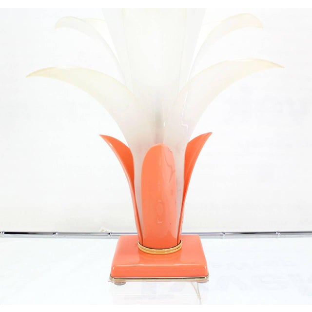 Molded Acrylic Lotus Flower Table Lamp For Sale In New York - Image 6 of 9
