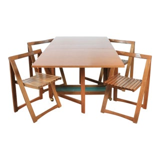 Scandinavian Drop Leaf Dining Set - 5 Pieces For Sale