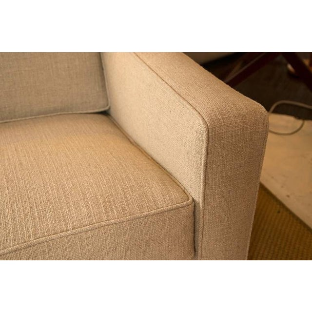 Mid-Century Knoll Sofa in Custom Linen - Image 4 of 6