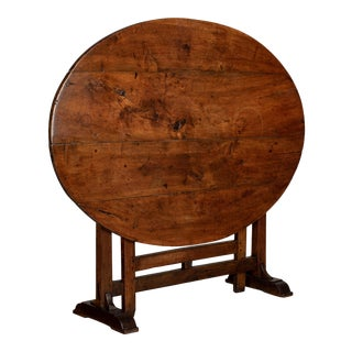 19th Century French Oval Wine Tasting or Tilt-Top Table For Sale