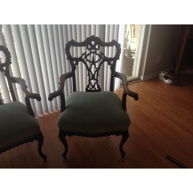 Chippendale Settee and King and Queen Chairs - Set of 3 - Image 8 of 11