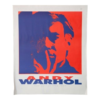 Vintage Mid Century Modern Andy Warhol Self Portrait Poster For Sale