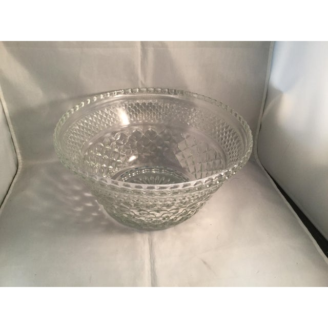Diamond pattern crystal bowl. Circa 1980s.