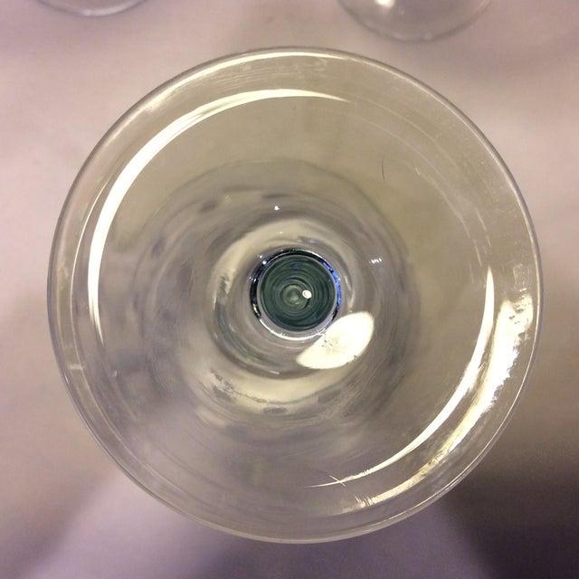 Vintage Etched Crystal Martini Glasses - Set of 4 - Image 10 of 11