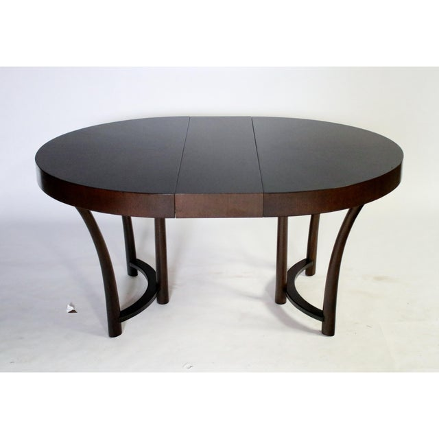 1940s t.h. Robsjohn Gibbings Expandable Dining Table For Sale - Image 5 of 9