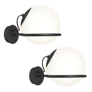 Gino Sarfatti Model 238/1 Wall Lamps in Black - a Pair For Sale