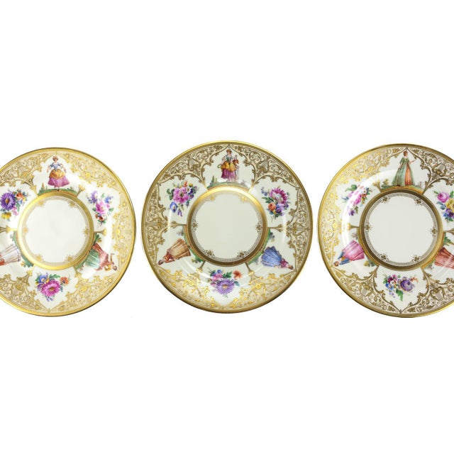 Ambrosius Lamm Dresden Hand Painted Dinner Plates - Set of 12 - Image 5 of 5