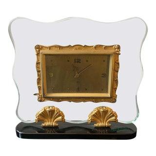 1950s Italian Mid-Century Modern Fontana Arte Style Table Clock For Sale