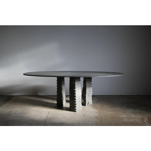 1970s Mario Bellini Style Italian Slate Dining Table For Sale - Image 13 of 13