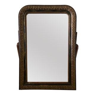 Louis Phillip Gold Leaf Antique Mirror For Sale
