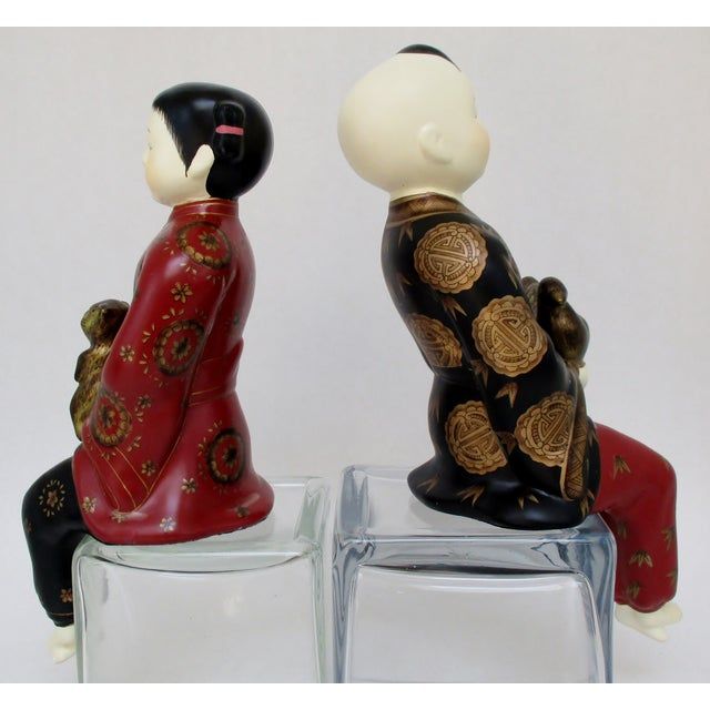 Porcelain Shelf-Sitters, a Pair - Image 6 of 8