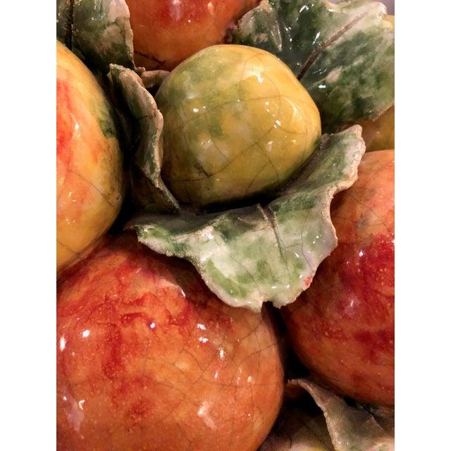 Ceramic Italian Majolica Ceramic Fruit Basket Centerpiece For Sale - Image 7 of 11