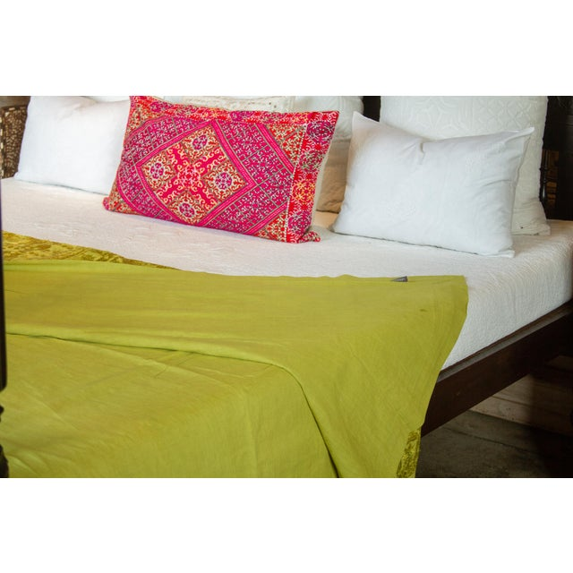 Green Sheesha Coverlet For Sale In Los Angeles - Image 6 of 8
