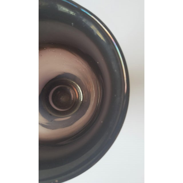 Gray 1981 Dante Marioni Glass Blown Vase for Traver Gallery For Sale - Image 8 of 13