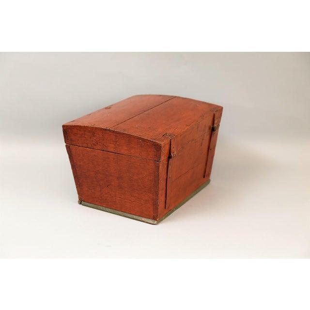 Antique Upsala Swedish Marriage Trunk / Box - Image 4 of 7