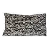 Image of Vintage Black & White Embroidered Pillow For Sale
