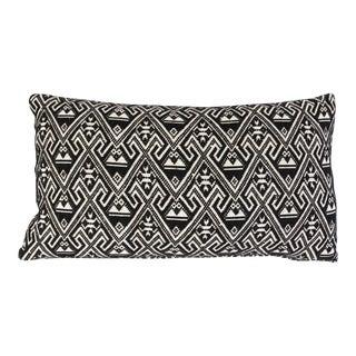 Vintage Black & White Embroidered Pillow