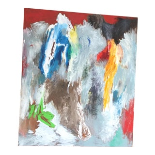 "Late 20th Century Abstract ""Animal Dance"" Painting For Sale"