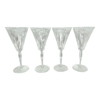 Vintage Tulip Champagne Flutes - Set of 4 For Sale