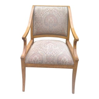 Designer Lounge Chair With Marquetry