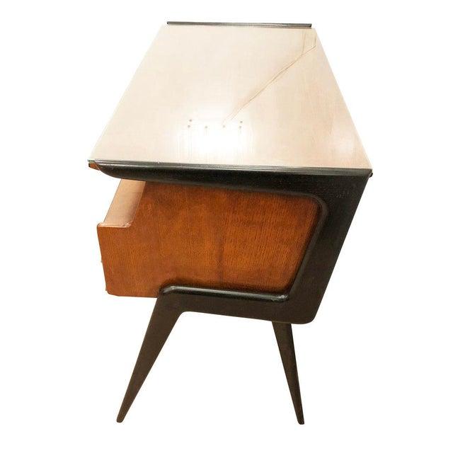 Silvio Cavatorta Italian Mid-Century Desk in the Manner of Silvio Cavatorta For Sale - Image 4 of 8