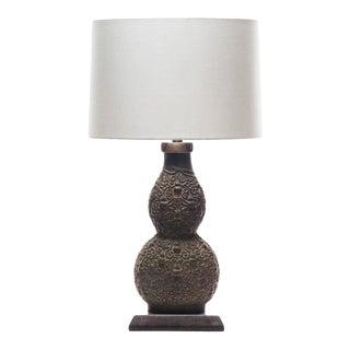 Lawrence & Scott Marilyn Verdigris Bronze Table Lamp For Sale