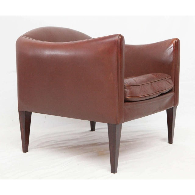 1950s Pair of Illum Wikkelso Leather Lounge Chairs For Sale - Image 5 of 9