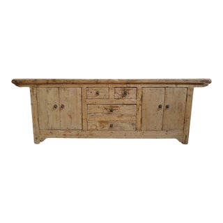 Salvaged Farm Wood Media Cabinet For Sale