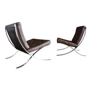 Rare Barcelona Chairs by Ludwig Mies Van Der Rohe for Gerald R. Griffith For Sale