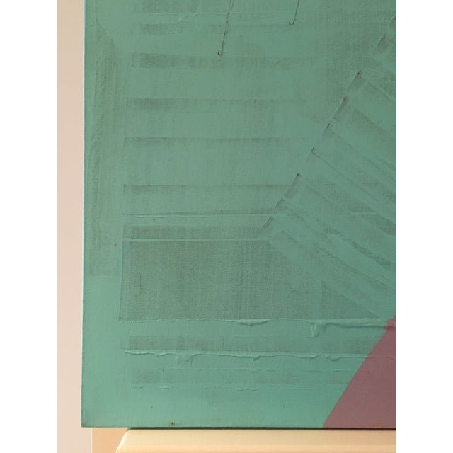 Original Bob Rankin Large Abstract Teal and Violet Painting For Sale - Image 5 of 8