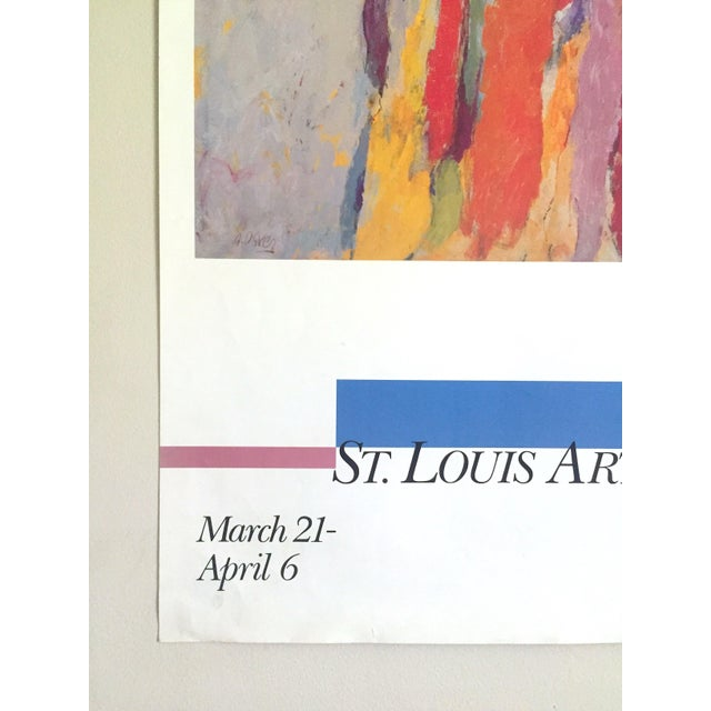 Paper Arthur Osver Vintage 1985 Abstract Expressionist Lithograph Print St. Louis Arts Festival Exhibition Poster For Sale - Image 7 of 13
