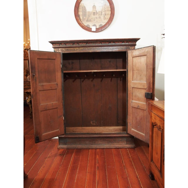 A PAINTED EUROPEAN ARMOIRE For Sale - Image 4 of 11
