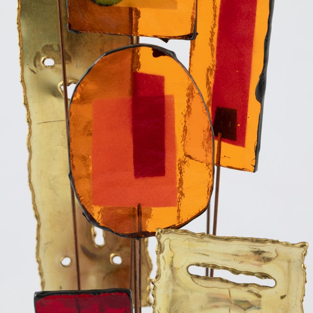 C. Jeré Artisan House Resin and Brass Tabletop Sculpture, Circa 1966 For Sale - Image 9 of 13