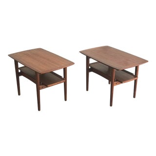 Bramin Danish Modern Nightstands or End Tables - a Pair For Sale