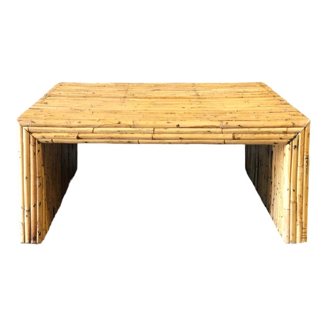 Vintage Bamboo Parson Style Coffee Table For Sale