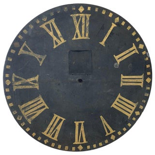 Antique Metal Clock Face For Sale