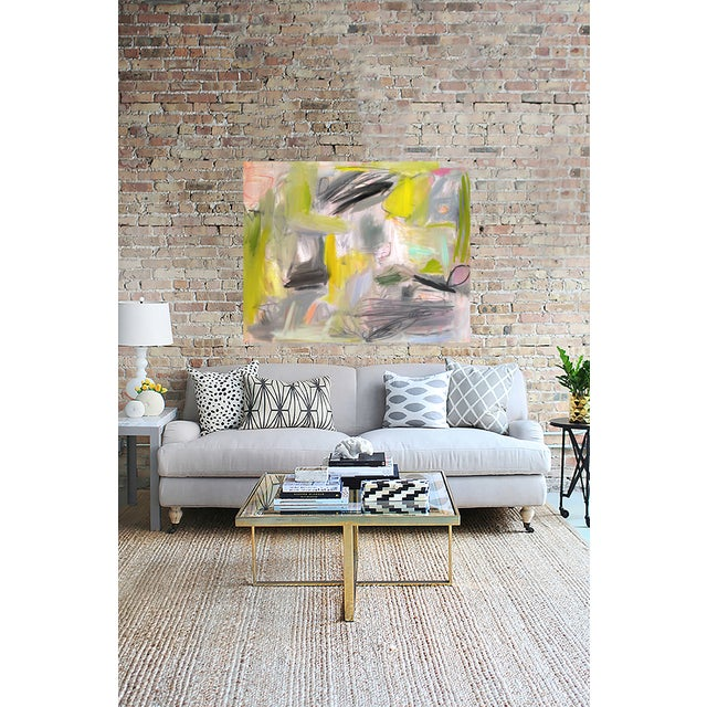 """Trixie Pitts """"Happy Valley"""" Abstract Painting - Image 2 of 4"""
