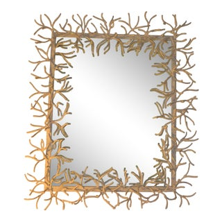 Faux-Coral Wall Mirror For Sale