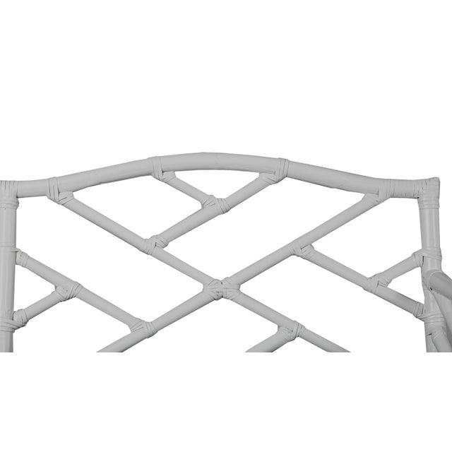Not Yet Made - Made To Order Chippendale Bench - Light Gray For Sale - Image 5 of 6