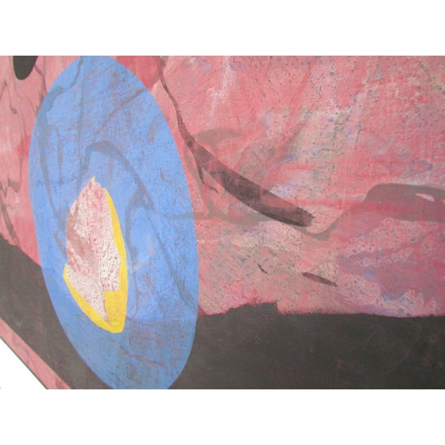 Mid-Century Modern Abstract Modernist Painting by French Artist Jeanick Bouys For Sale - Image 3 of 10