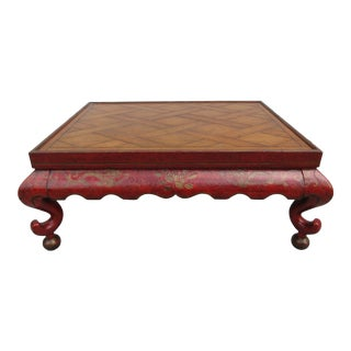20th Century Chinoiserie Baker Furniture Coffee Table For Sale