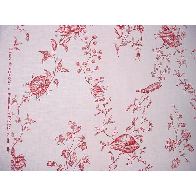 Modern Brunschwig Biscay Linen Print Seashell Upholstery Fabric- 13 Yards For Sale