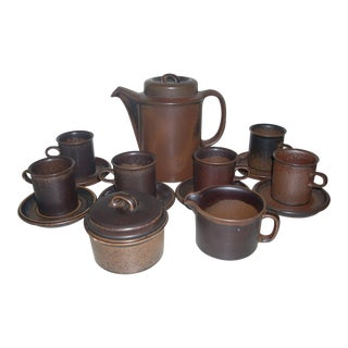 Arabia Ruska Coffee Service - 15 Pieces For Sale