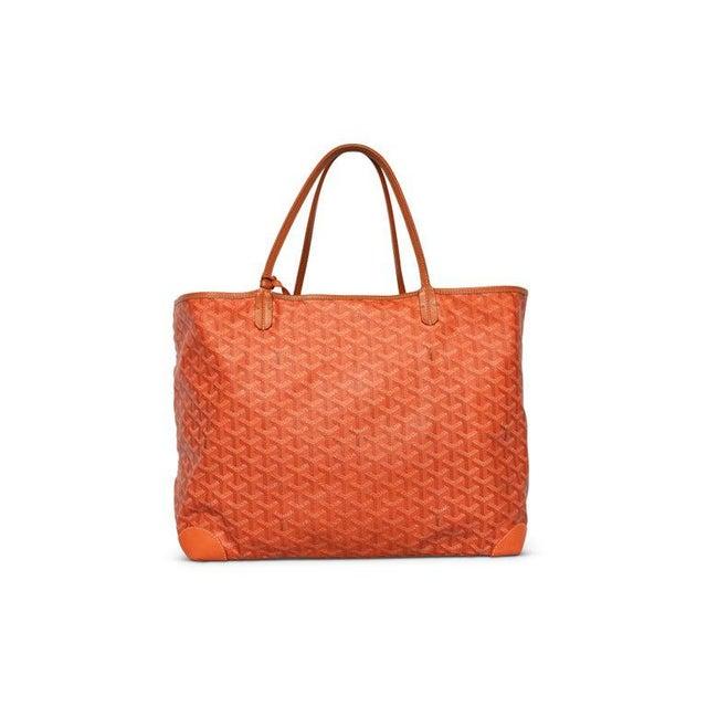 Goyard Goyard Orange St Louis Gm Chevron Tote Bag For Sale - Image 4 of 10