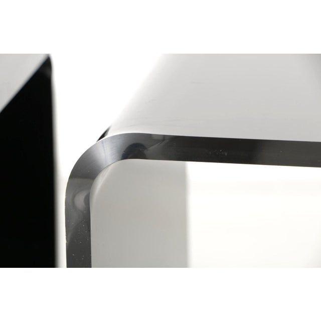 Acrylic Smoked Lucite Nesting Tables - A Pair For Sale - Image 7 of 8