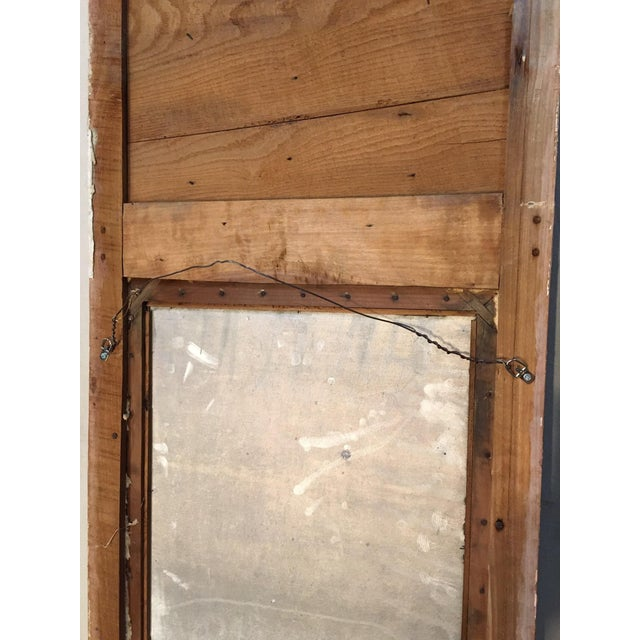 Wood Louis XV Style Trumeau Mirror For Sale - Image 7 of 8