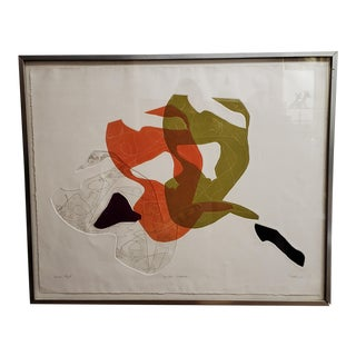 """1960s """"Witches Sabbath"""" Abstract Artist Proof, Framed For Sale"""