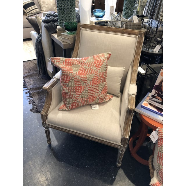Kenneth Ludwig Chicago 21st Century Kate Linen Chair For Sale - Image 4 of 10