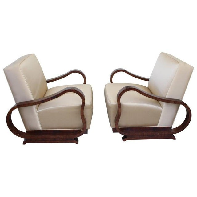 Art Deco 1930s Jindřich Halabala Style Lounge Chairs - a Pair For Sale - Image 13 of 13