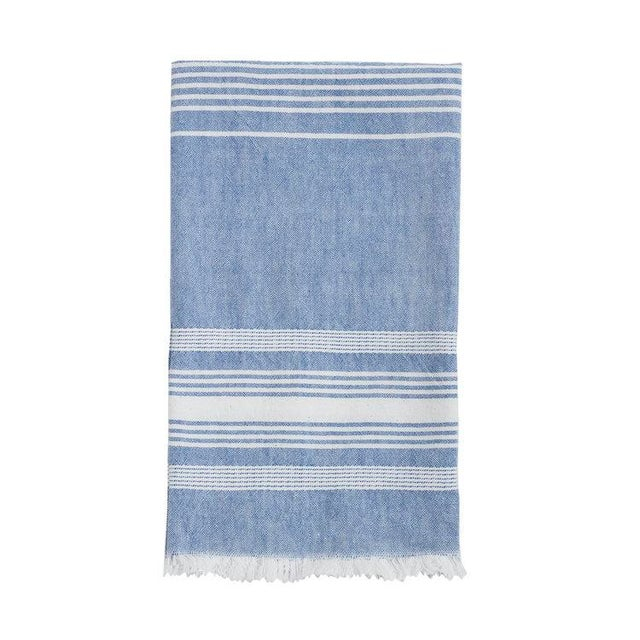 Blue Chambray Kitchen Towel For Sale - Image 4 of 4